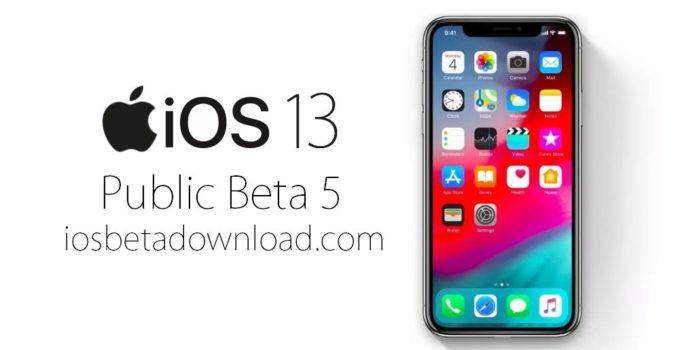 iOS 13 Public Beta 5 Download