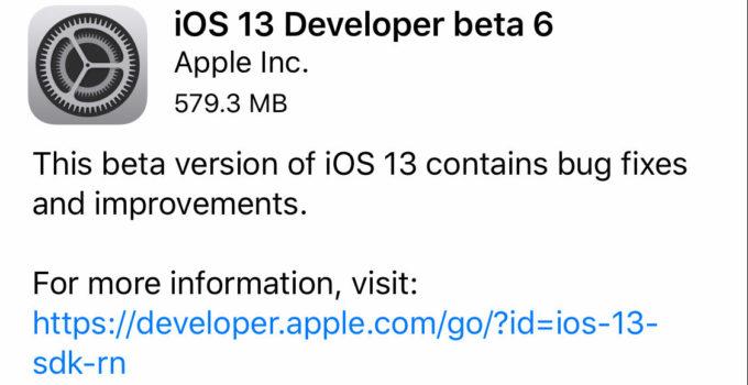 How to install iOS 13 Beta 6?