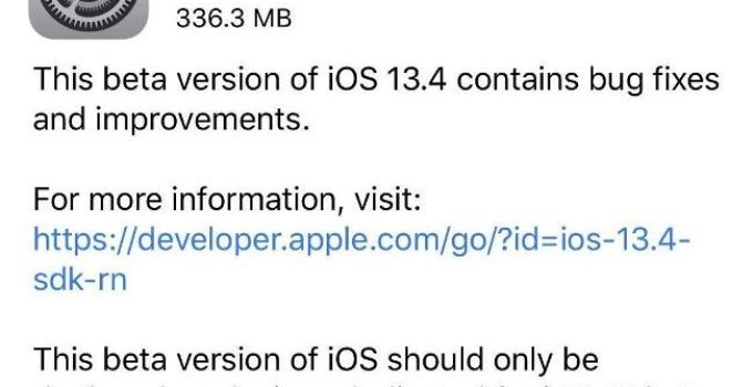 iOS 13.4 beta 3 released for developers – what's new