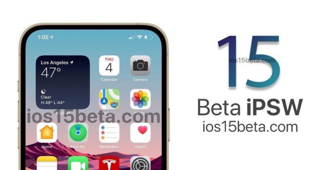 iOS 15 Beta Download Direct Links (IPSW)